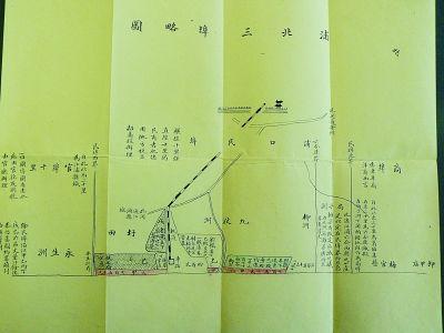 手绘图上,紧挨浦口火车站,浦口码头的黄金地段,有三个地块用彩色笔