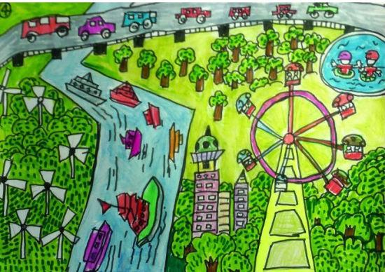 幼儿园图画/我心中的祖国图画/怎样绘画美丽校园图/我心中的学校图画