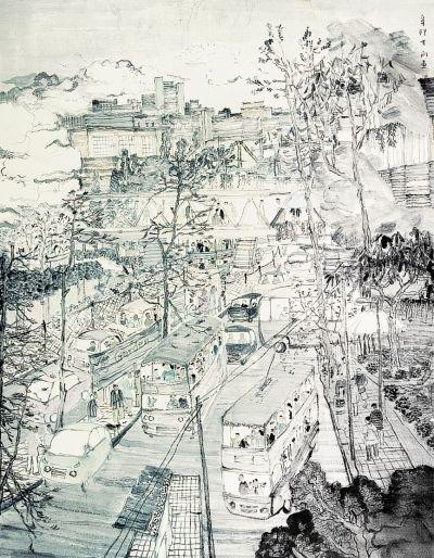 水墨画笔墨纸砚背景高清-意象中国画