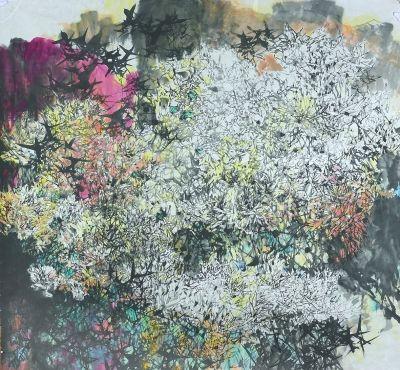 深色花鸟壁纸贴图素材