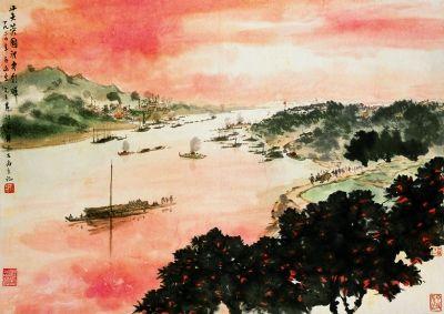 """作为对20世纪山水画发展起了重要推动作用的一个画派,""""新金陵画派""""图片"""