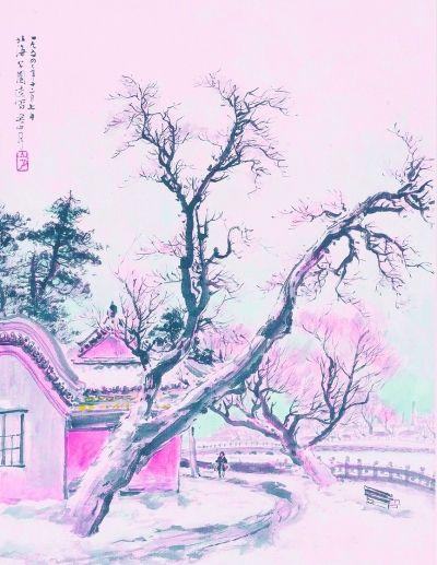 北海公园之二(中国画) 关山月