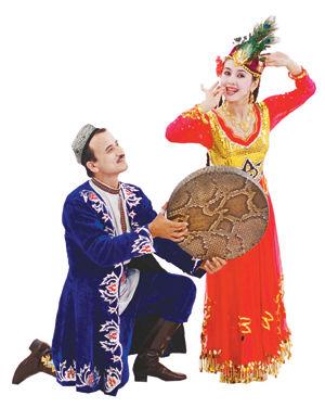 维族人物矢量图