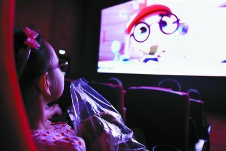 儿童电影院_昨天,120余名视障儿童和家长走进电影院,\
