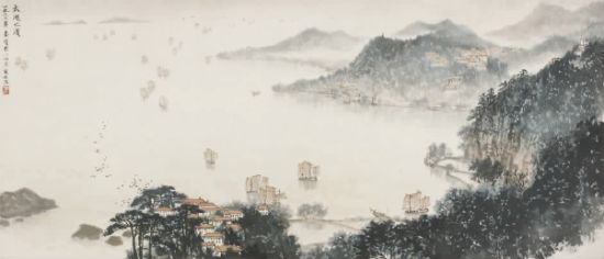 绘画特色的新山水画作品,显示了传统中国画在反映社会主义建设生活图片