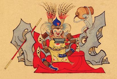 图片说明:《大闹天宫》的美术设计.(展出方供图)