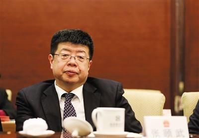昨日,北京市人大代表、北京大学中文系张颐武教授参加小组会。新京报记者 薛珺 摄