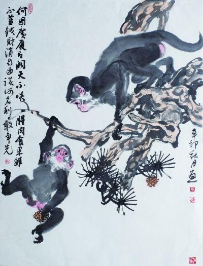 猴子是十二生肖之一,是中国人熟悉和喜爱的动物.