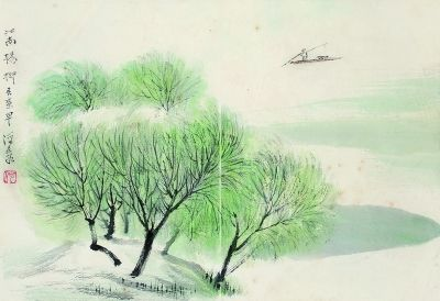 古代盆栽手绘稿