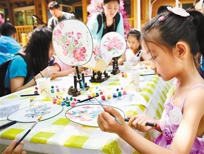 儿童画团扇画 动物