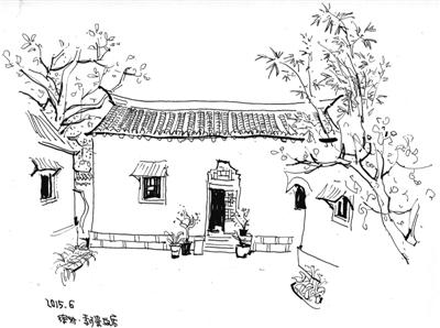 中国风灯手绘图